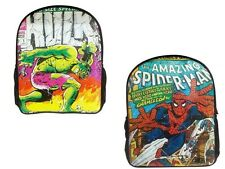 NEW MARVEL COMICS SPIDERMAN HULK GYM UNI SCHOOL COLLEGE BACKPACK RUCKSAK BAG