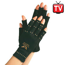 fingerless COPPER HANDS compression arthritis pain relief stretch work gloves