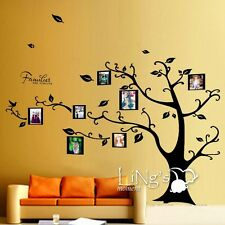 Family Photo Frame Tree Removable Vinyl Wall Decal Sticker Art Mural Decor Black
