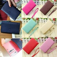 Fashion Women Wallet Leather Purse Case Cover For Samsung I9100 9300 iPhone 4S