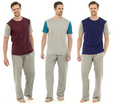 Mens Lounge PJ Pyjamas Sets Night Wear PJ's 2 Piece Pyjama Set Gents Size s-XXL