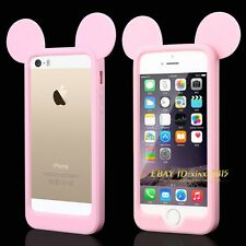 Cute Cartoon Ears Model Soft Silicone Case Frame For iPhone 4 4S 5 5S 6 4.7