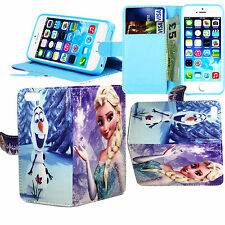 New Frozen Magnatic Stand Wallet Book Case Cover For Various Mobile Phones