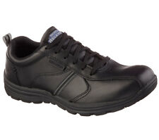 Skechers 77036 BLK Men's HOBBES-FRAT SR Work Shoes
