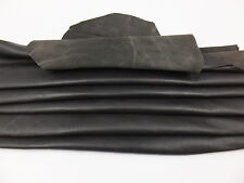 SHEEP LEATHER DARK BROWN FINISHED SHEEP SKIN  HIDE NAPPA 6 TO 14 SQUARE FEET
