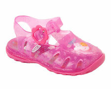 GIRLS PEPPA PIG PINK SUMMER BEACH WATER JELLY SANDALS SHOES INFANTS UK SIZE 3-9