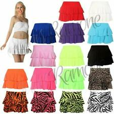 New Ladies Girls Plain Printed Sexy Rara Mini Skirt Women Club Party Short Skirt