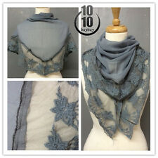 US Seller Lady Fancy Fashion Lace With Silky Scarf Soft Touch