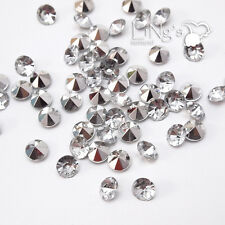 Clear Plated Silver Diamond Confetti Wedding Party Table Scatter Decor 4 Size