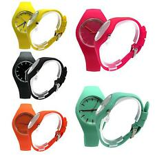 Fashion Women Girl Candy Silicone Band Quartz Watch Jelly Sport Wristwatch Gift