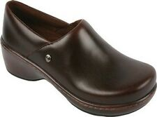Klogs Women's Genoa Mahogany Smooth Brown Leather Clogs