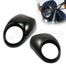 Front Headlight Fairing Mask Cowl Fork For Harley Sportster Dyna XL883 Cafe