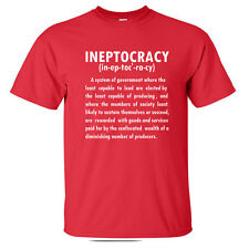 INEPTOCRACY 2012 Election Government Definition political CONVENTION T-Shirt RED
