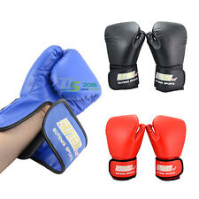 UFC Leather Grappling Muay Thai Training MMA Punching Bag Mitts Boxing Gloves