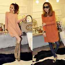 Fashion Pregnancy Knit Tops Long-sleeved Maternity Sweater Dress Jumper Pullover