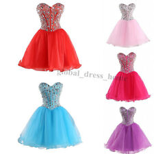 New Beaded Short Cocktail Formal Prom Ball Gown School Homecoming Dress for Teen