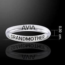 Avia Grandmother Silver Ring - Empowering Words Collection