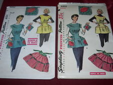 1953 SIMPLICITY #4492 - LADIES ( 3 STYLE ) COBBLER - HOUSEKEEPING APRON PATTERN