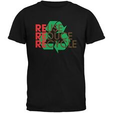 Earth Day - REduce REuse REcycle Black Adult T-Shirt