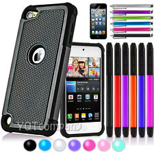 Hybrid Rugged Rubber Matte Hard Case Cover Skin for Apple iPod Touch 4 4th Gen