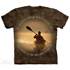 THE MOUNTAIN KAYAK OUTDOOR NATURE ADVENTUROUS ESCAPE LIFE T SHIRT S-5XL