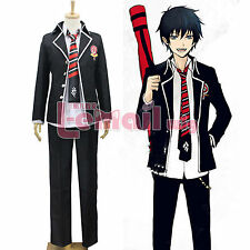 Ao no Blue Exorcist Rin Okumura Cosplay Costume School Uniform Outfit Full Set