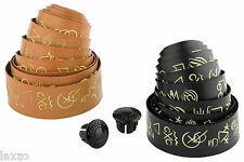Cinelli Hobo Alphabet Volée Ribbon Bicycle Handlebar Tape In Black And Tan