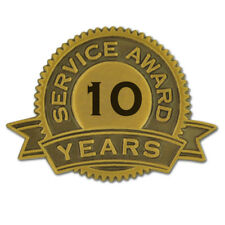 10 Years of Service Award Lapel Pin