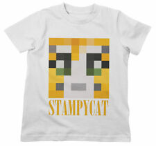 Stampy Cat Face Kids T Shirt 3-13 Years Mine Youtube Gamer Craft Video Long Nose