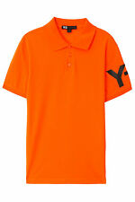 Y-3 Polo SALE Sleeve Logo Shirt by Yohji Yamamoto Lime Green Pink Orange XS-XXL