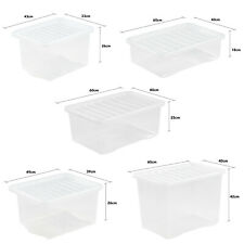 Large, Stackable, Plastic Storage Boxes With Lid Different Size-FREE UK DELIVERY