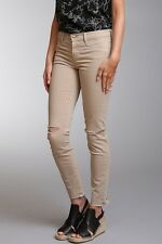 NEW J BRAND 811 WOMEN'S JEANS SAND RIPS KNEE SUPER STRETCHY SKINNY PANTS