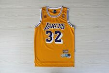 New Men's Los Angeles Lakers Magic Johnson Stitched Basketball Jersey #32 M-L