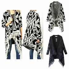 Fashion Women Knitwear Casual Long Knit Cardigan Sweater Outerwear Coat Tops New