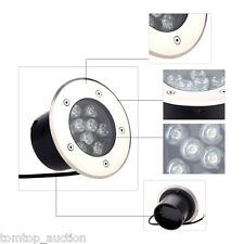 Outdoor 9W LED Light Garden Ground Path Floor Buried Yard Lamp Spot Light IP67