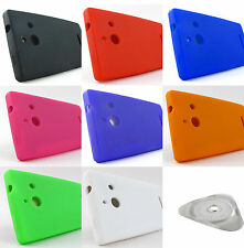 for Huawei Ascend W1 Soft Silicone Gel Rubber Skin Phone Case Cover + PryTool