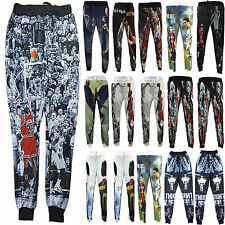 Men Women Hiphop 3D Print Basketball Match Hot Star Sports Slacks Pants Joggers