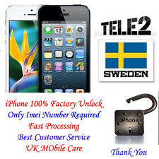 Unlock iPhone 4 4S 5 5S 5C 6 6+ Tele2 Sweden Premium Support All IMEIs