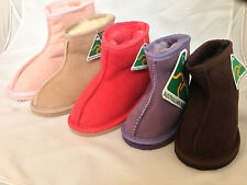 AUSSIE MADE GENUINE SHEEPSKIN KID SHORT UGG BOOTS  SEAM SIZE 5 -2 KIDS