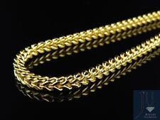 10k Yellow Gold Franco Box Cuban Chain Necklave 3.5 MM in 24-40 Inch