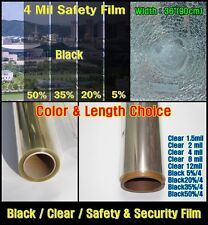 """WIDE:36""""(90CM)/All Mil/2,4/Safety Clear Film/Window/Security/Residential/UV/ROLL"""