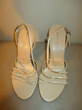 Kenneth Cole New York Sexy Beige Leather Strappy Slingback Heel Women's 8 1/2 M