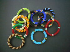 New African Ethnic Masai Bead Bangle Bracelet Jewellery - Fairtrade Craft Gift