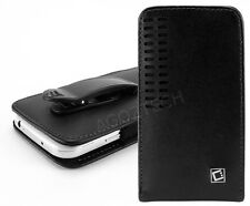 Premium Vertical Leather Fixed Swivel Clip Holster Case for Microsoft Cell Phone