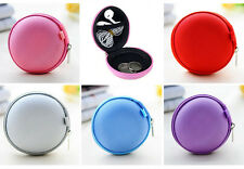 New Mini Zipper Box Carrying Pouch Earphone Headphone SD Card Storage Bag Cheap