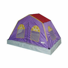 NEW Kids Girls Bed Tent Twin Full Double Size Purple Princess House Play Stretch