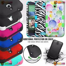 FOR HTC DESIRE 510 TUFF DUAL LAYER DEFENDER SHIELD HYBRID HARD COVER PHONE CASE