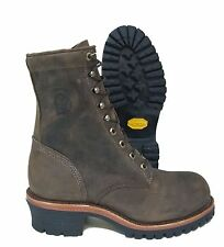 Chippewa Boots Steel Toe Brown Leather Work Safety Logger Boot 20091 Made In USA