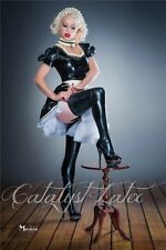 Special powder-free latex black/red soft chlorinated rubber long stockings S -XL