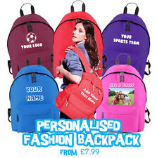 Personalised Backpack - Design your Own Personalised Bag - Printed Backpack